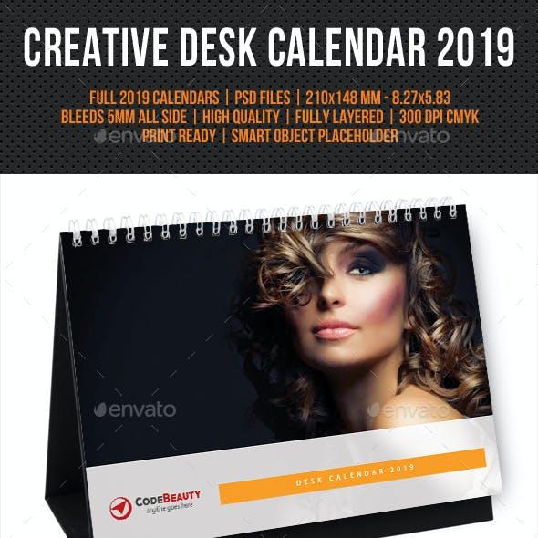 Creative Desk Calendar 2019 V22
