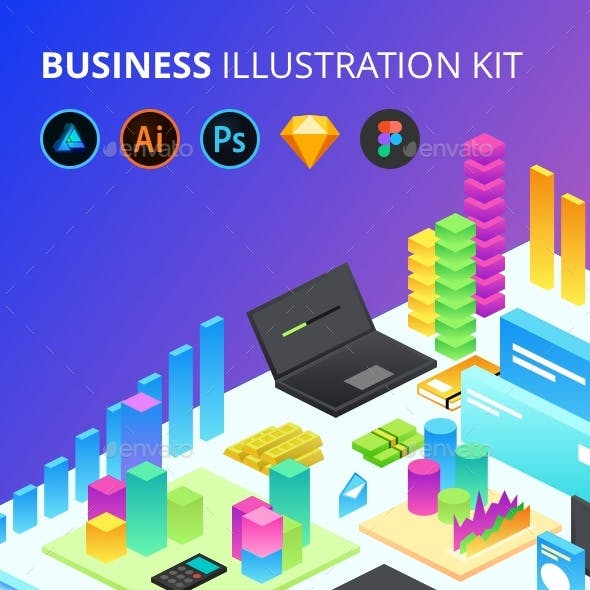 Figma and Isometric Graphics, Designs & Template