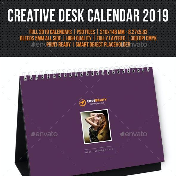 Creative Desk Calendar 2019 V21