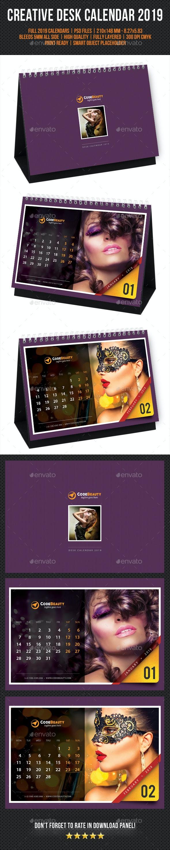Creative Desk Calendar 2019 V21 - Calendars Stationery