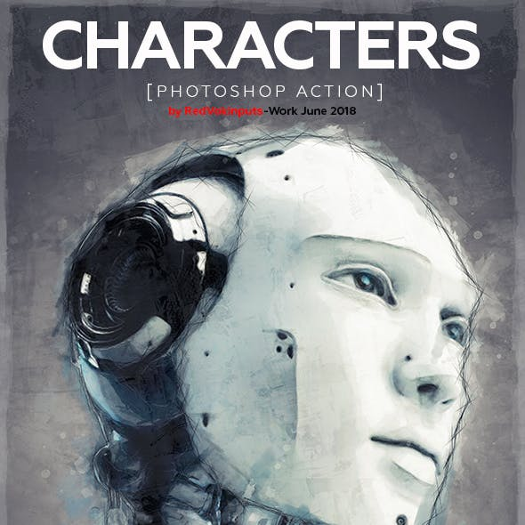 Characters Photoshop Action