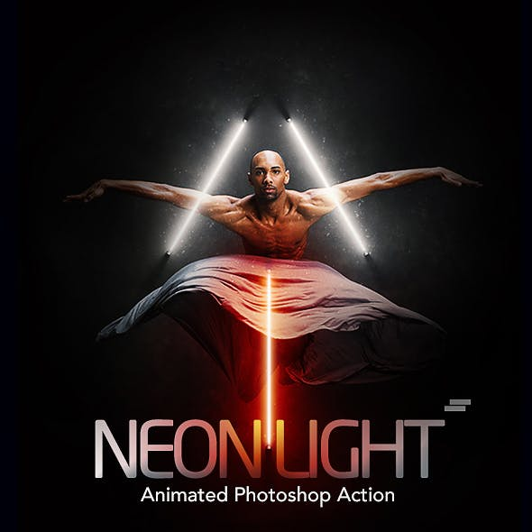 Gif Animated Neon Light Photoshop Action