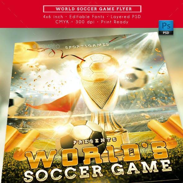World Soccer Game Flyer