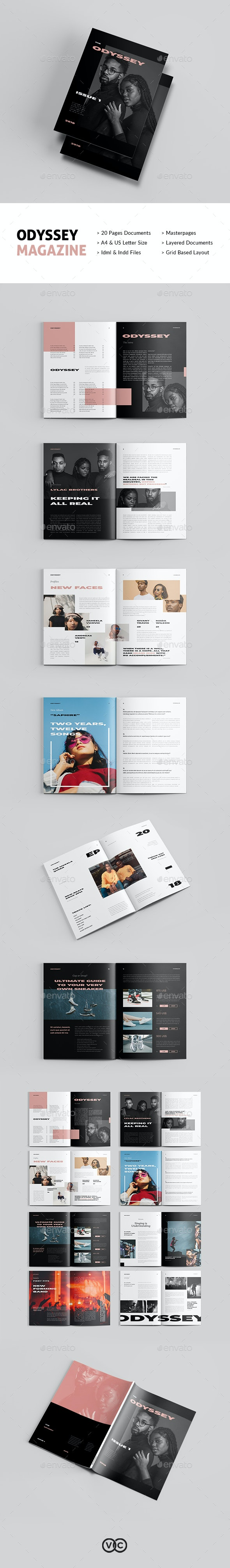 Odyssey Magazine - Magazines Print Templates