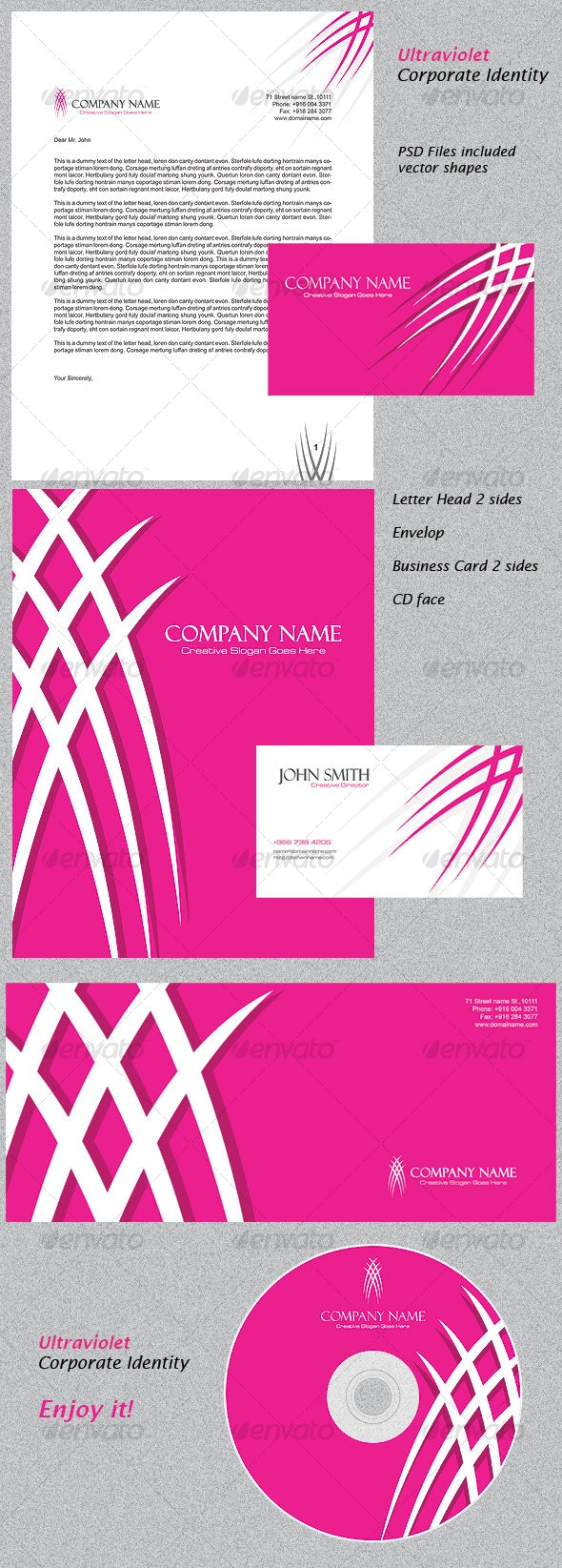 Ultraviolet Corporate Identity - Miscellaneous Print Templates
