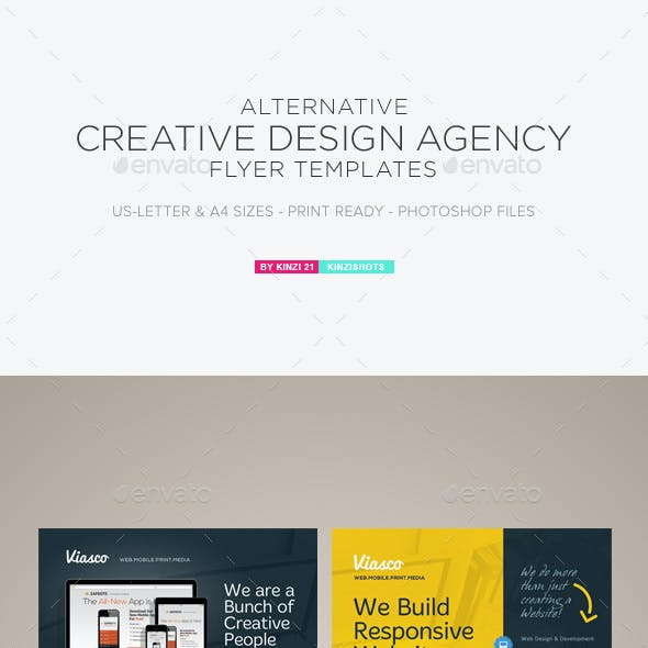 Alternative Creative Design Agency Flyers