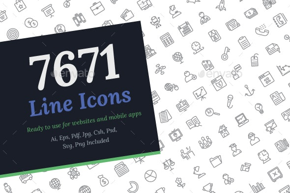 7671 Line Icons - Icons