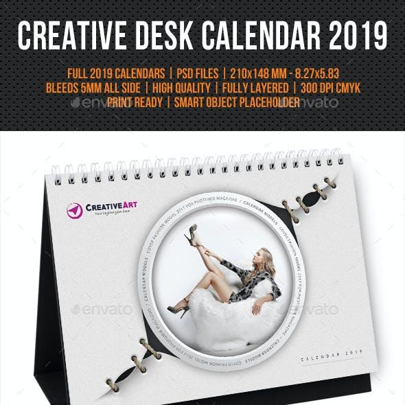 Creative Desk Calendar 2019 V19