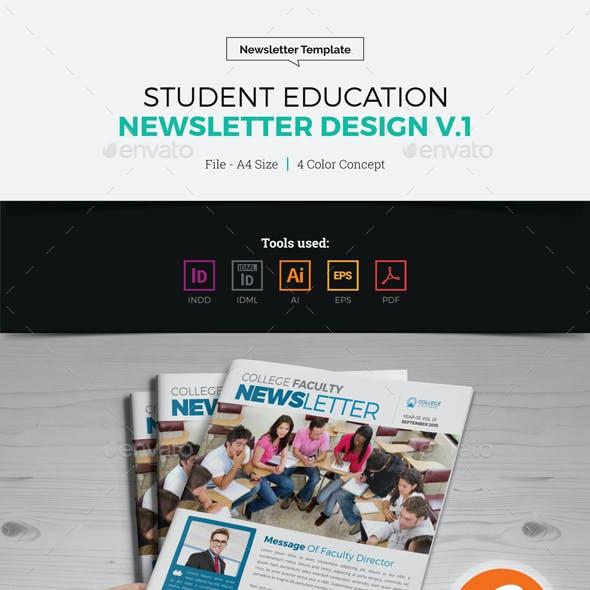Student Education Newsletter Design