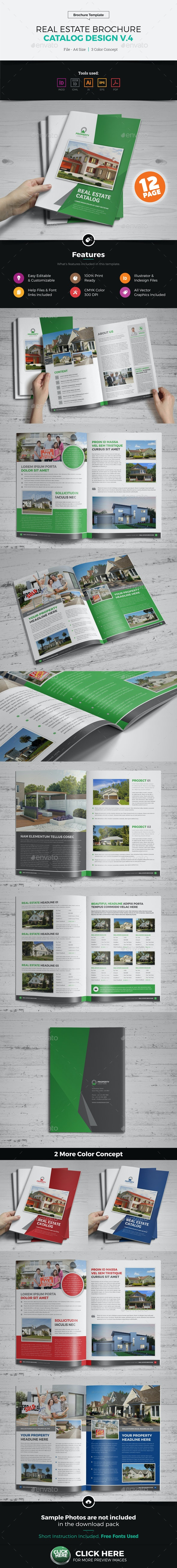 Real Estate Agency Brochure Catalog v4 - Corporate Brochures