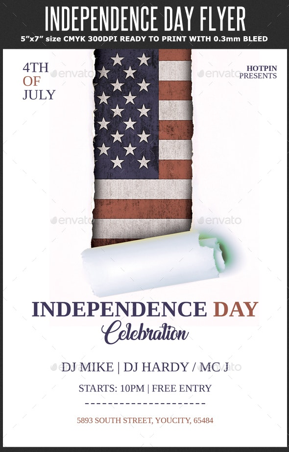 4th July/Independence Day Flyer Template - Holidays Events