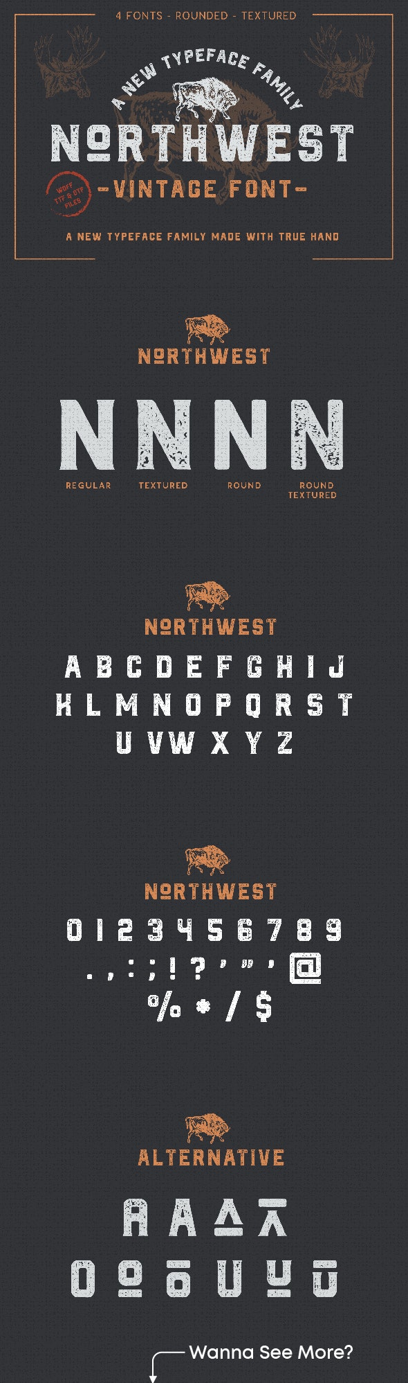 The Northwest - Vintage Font - Sans-Serif Fonts