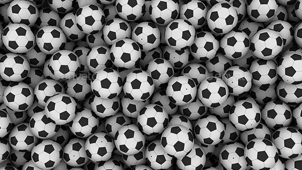 Pile Of Soccer Balls - Backgrounds Graphics