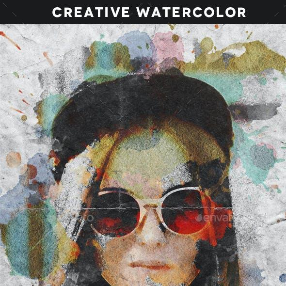 Creative Watercolor Portrait Template