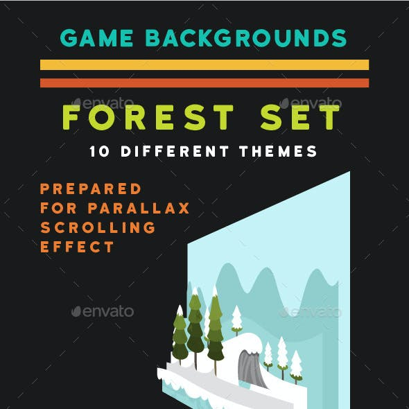 Forest Game Background Set