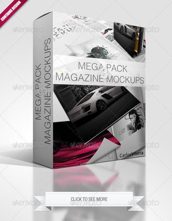 Mega Pack Magazine Mockups 3