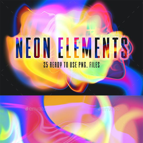 Abstract Neon Backgrounds Creation Kit