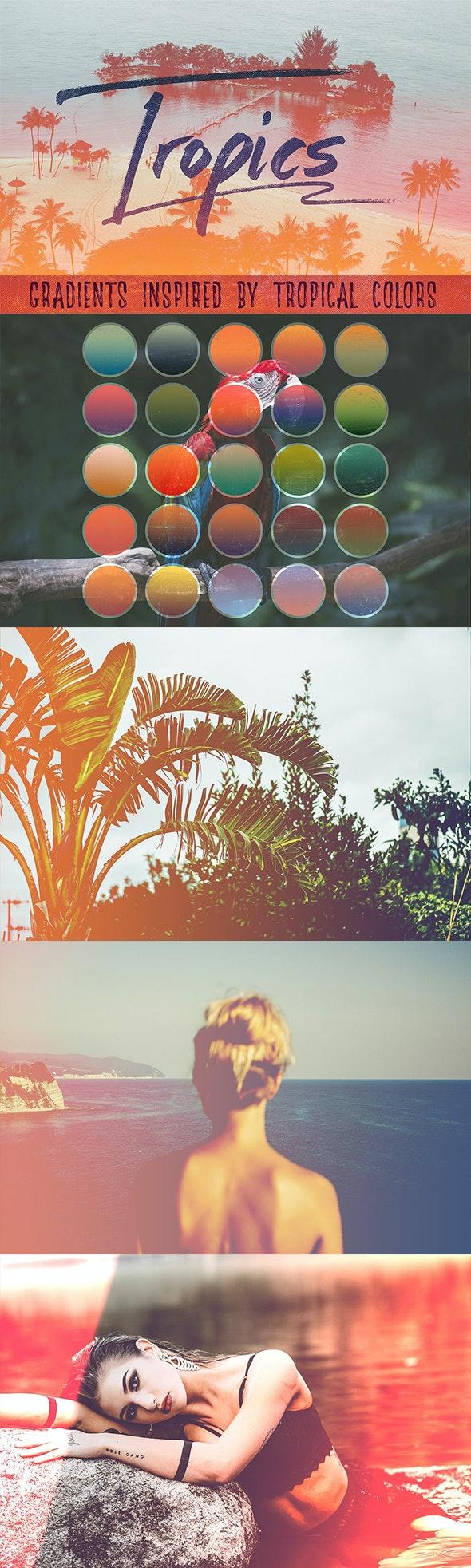 25 Tropical Gradients - Textures / Fills / Patterns Photoshop