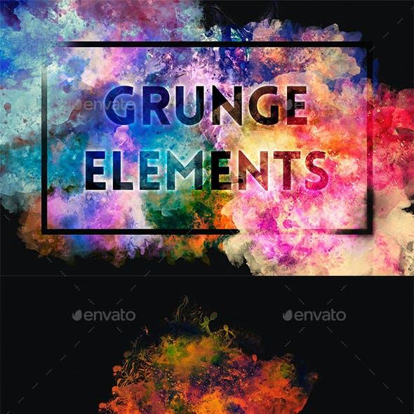 Grunge Elements Background Creation Kit