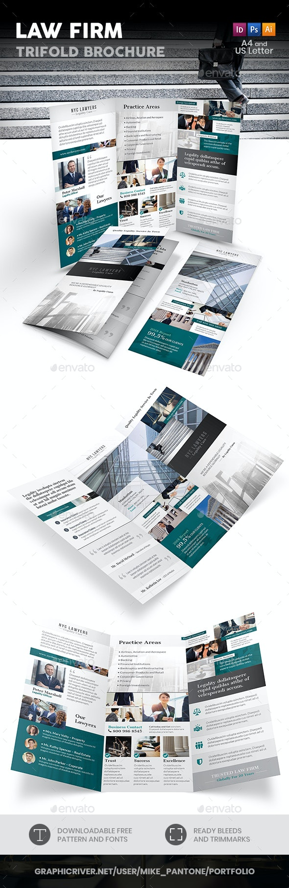 Law Firm Trifold Brochure 4 - Informational Brochures