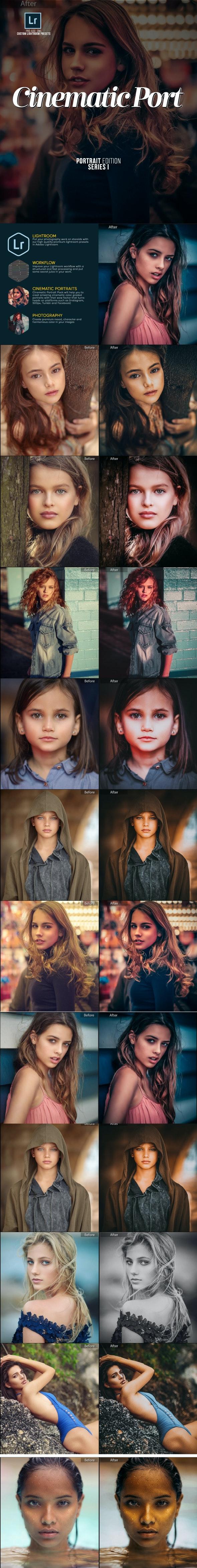 Cinematic Moody Portrait Lightroom Presets - Portrait Lightroom Presets