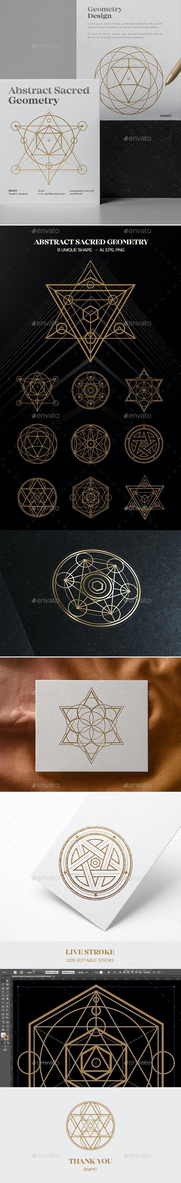 Abstract Sacred Geometry - Decorative Symbols Decorative