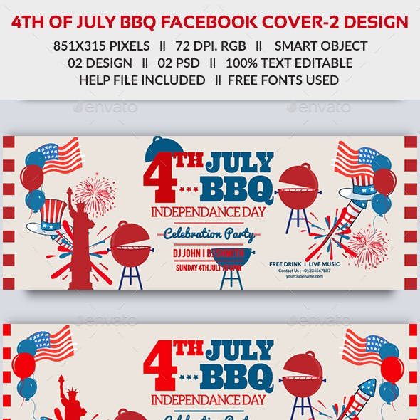 4th of July BBQ Facebook Cover