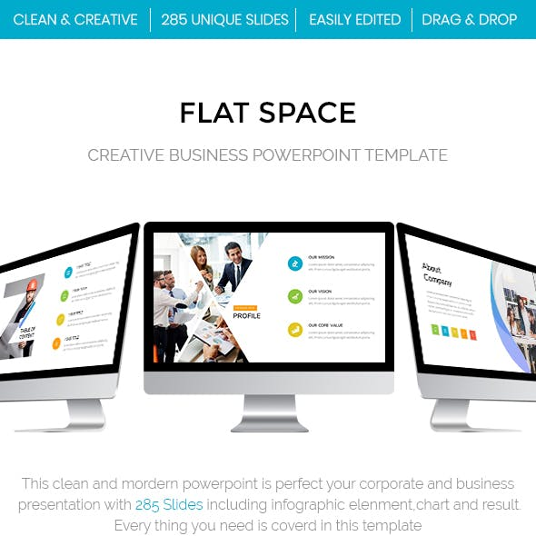 Flat Space - Creative Business Powerpoint Template