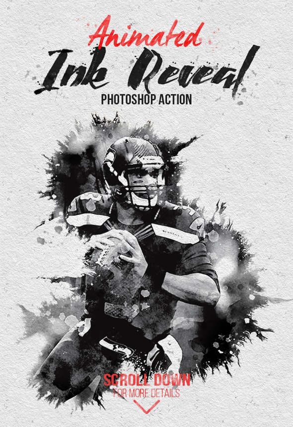 Animated Ink Reveal Photoshop Action - Photo Effects Actions