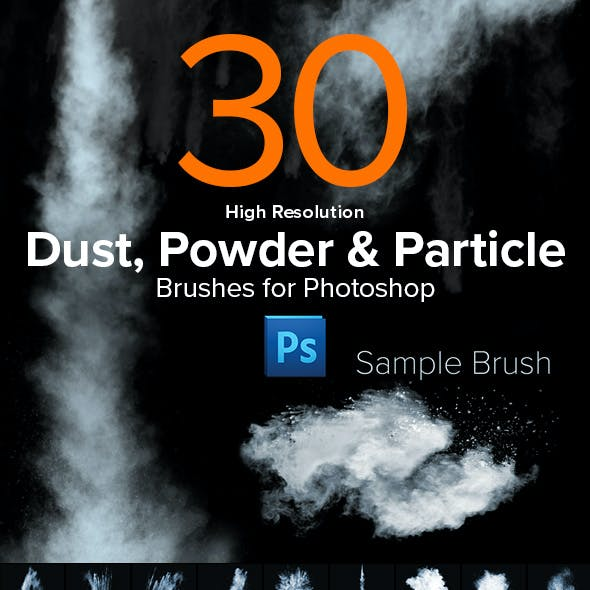 30 High Resolution Dust, Powder & Particle Brushes