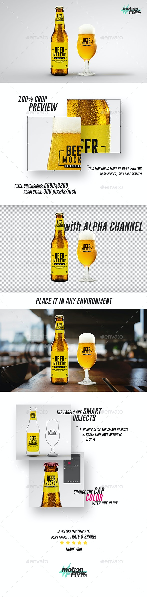 Beer Mockup - Food and Drink Packaging
