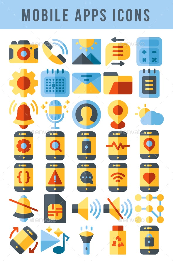 Mobile Apps Icons - Icons