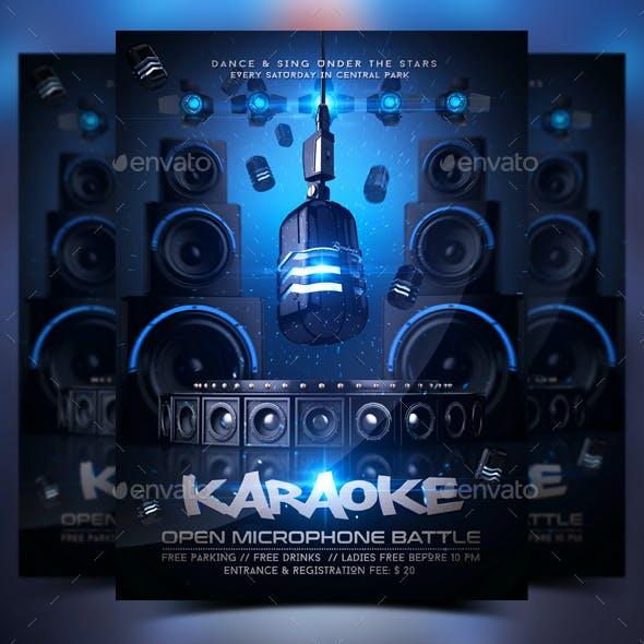 Karaoke Night Flyer