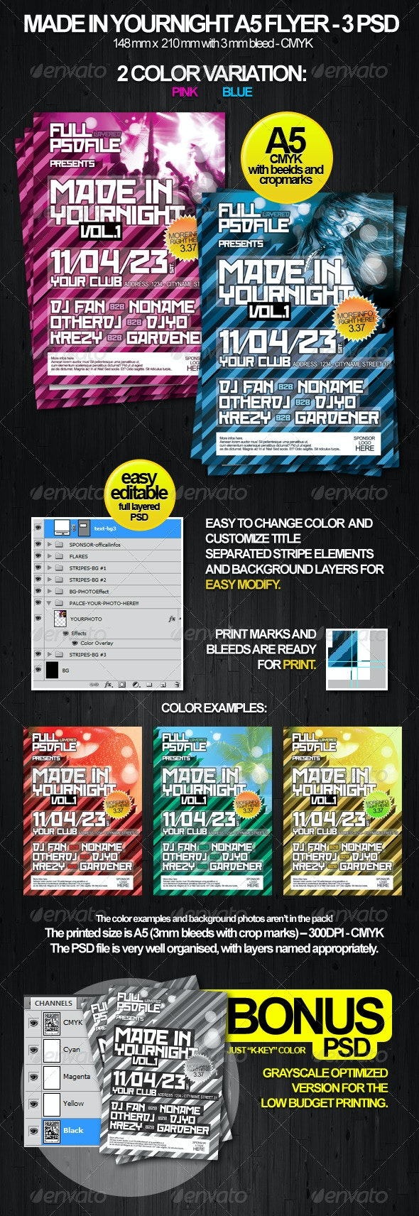MadeIn Party Flyer A5  - Clubs & Parties Events