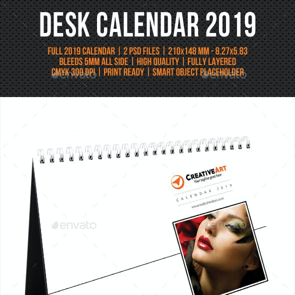 Creative Desk Calendar 2019 V17