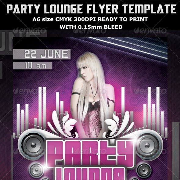 Party Lounge Flyer Template