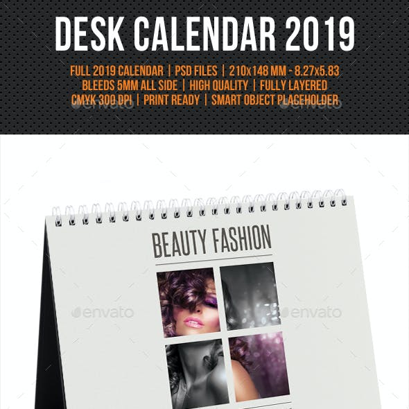 Creative Desk Calendar 2019 V13