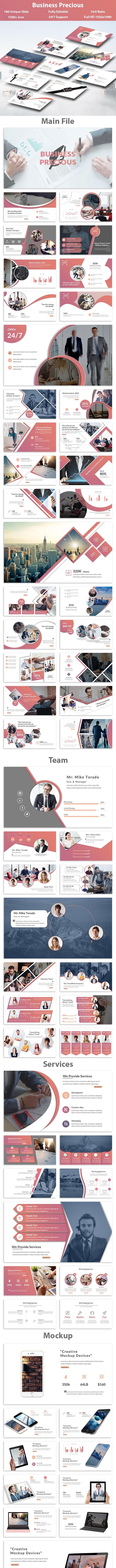 Business Precious Google Slide Template - Google Slides Presentation Templates