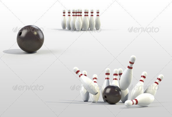 Bowling - Objects 3D Renders
