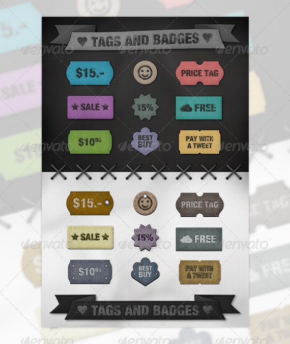 Tags and Badges - Badges & Stickers Web Elements