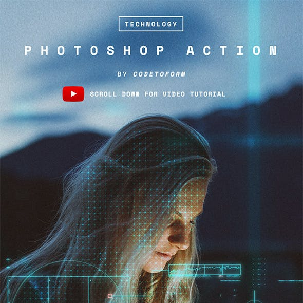 Technology Photoshop Action