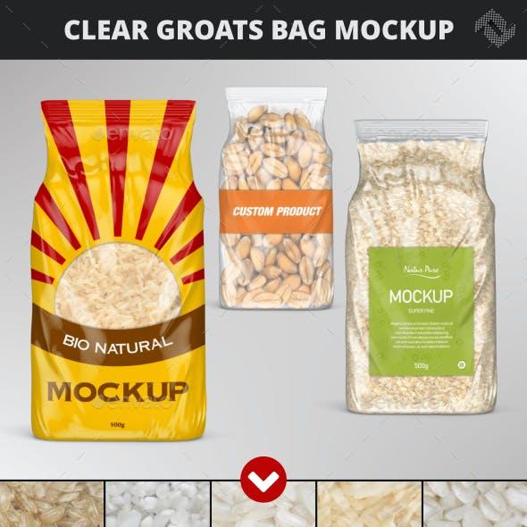 Clear Plastic Rice Bag Mockup