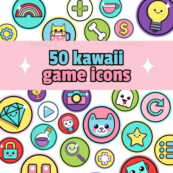 Kawaii Game icons
