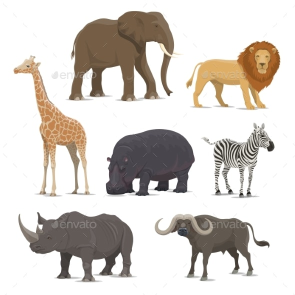 African Safari Animal Icons - Sports/Activity Conceptual