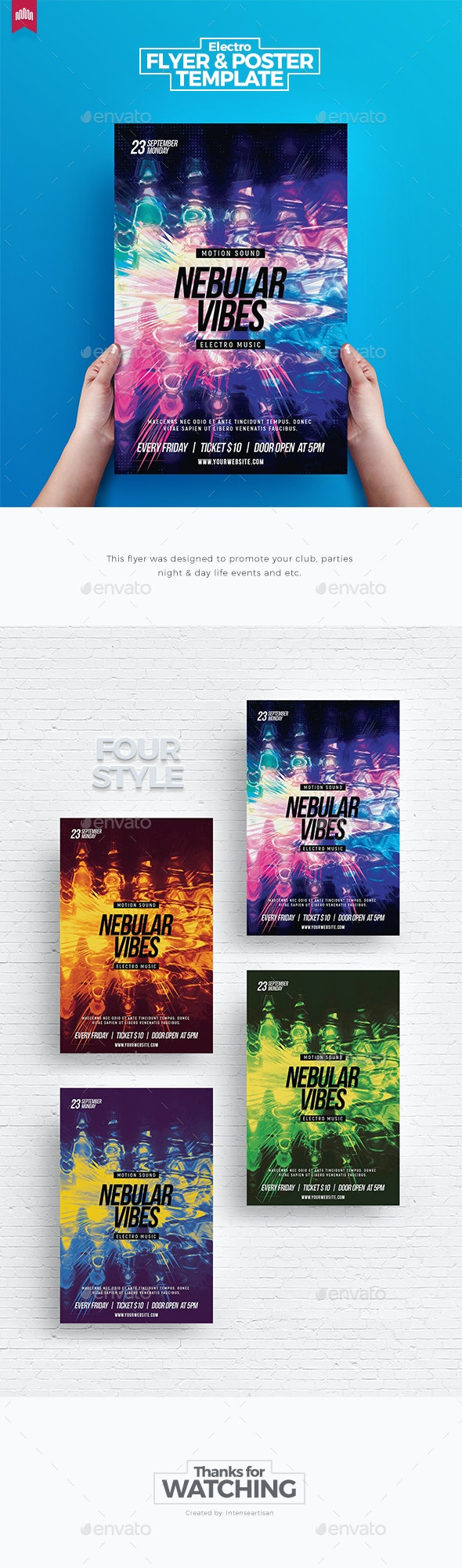 Nebula Vibes - Flyer Template - Clubs & Parties Events