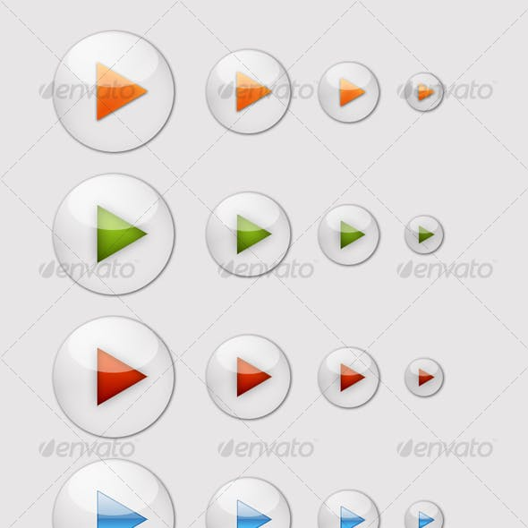 7 Glossy Play Icons