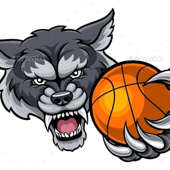 Wolf Holding Basketball Mascot