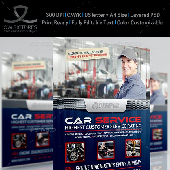 Car Services Flyer Template Vol.3