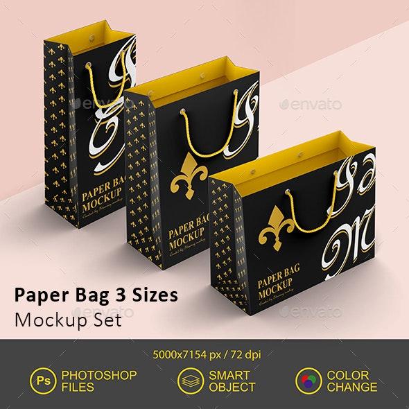 Paper Bag Mockup - Miscellaneous Print