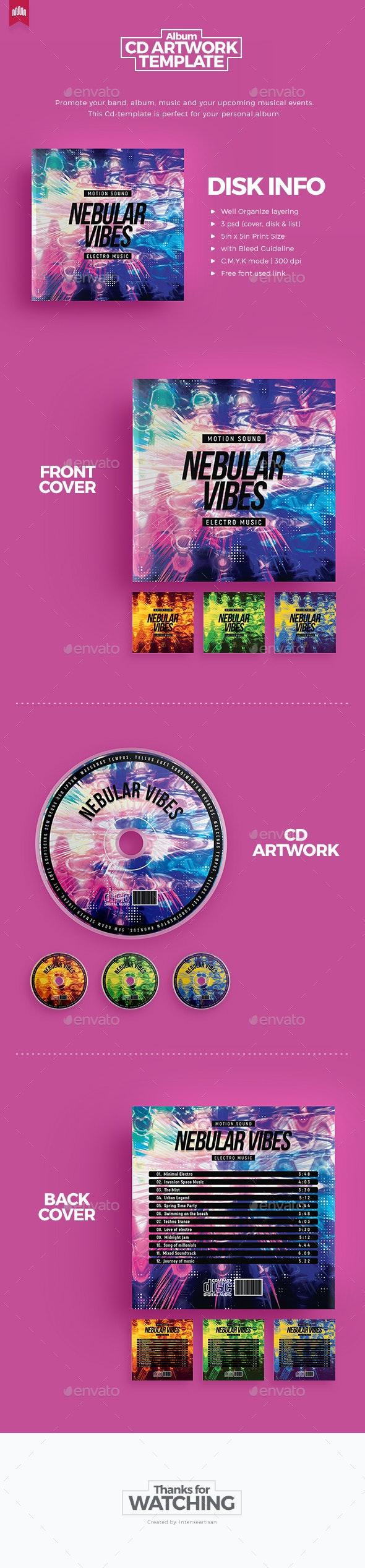 Nebula Vibes - Cd Artwork - CD & DVD Artwork Print Templates